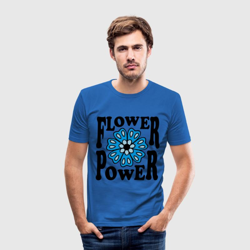 Flower Power Blumen Mode Party 70er Jahre Style T-Shirts - Männer Slim Fit T-Shirt