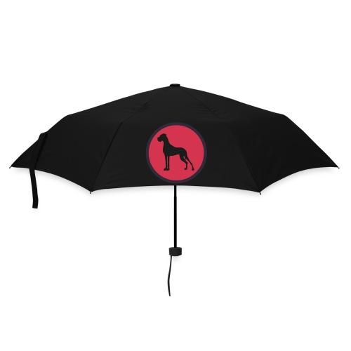 Kreis weiß und schwarz - Regenschirm (klein)
