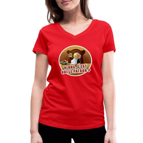 T-Shirt « Poker Mafia » (couleur au choix) - T-shirt bio col V Stanley & Stella Femme