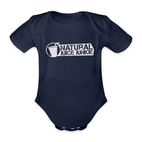 NJJ Hoodie (Mens - White) - Organic Short-sleeved Baby Bodysuit