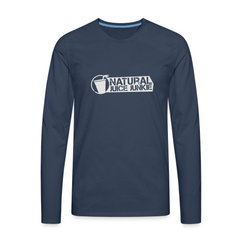 NJJ Hoodie (Mens - White) - Men's Premium Longsleeve Shirt