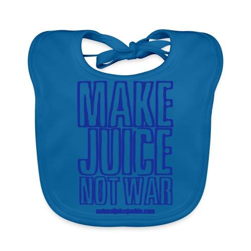 NJJ Hoodie (Mens - Make Juice Not War) - Baby Organic Bib