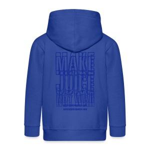 NJJ Hoodie (Mens - Make Juice Not War) - Kids' Premium Zip Hoodie