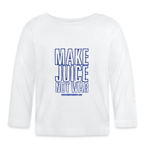 NJJ Hoodie (Mens - Make Juice Not War) - Baby Long Sleeve T-Shirt