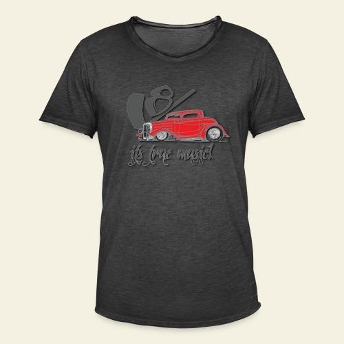 V8 - it's true music - Herre vintage T-shirt