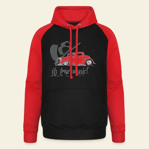 V8 - it's true music - Unisex baseball hoodie