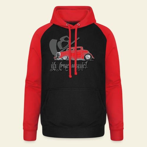 V8 - it's true music - Unisex baseball hoodie