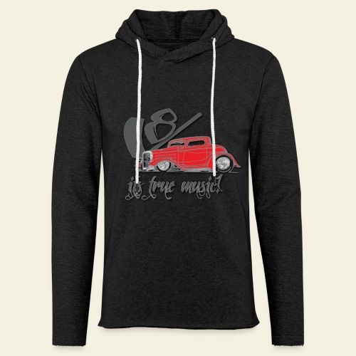 V8 - it's true music - Let sweatshirt med hætte, unisex