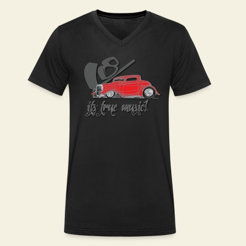 V8 - it's true music - Økologisk Stanley & Stella T-shirt med V-udskæring til herrer