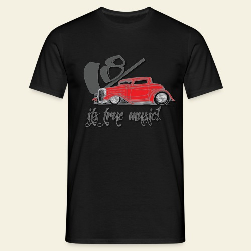 V8 - it's true music - Herre-T-shirt