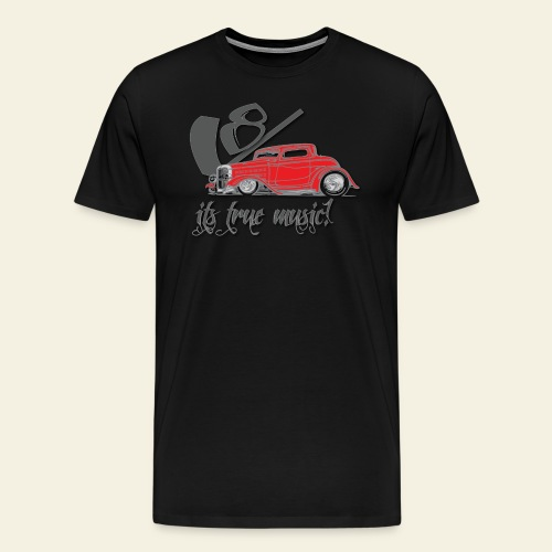 V8 - it's true music - Herre premium T-shirt