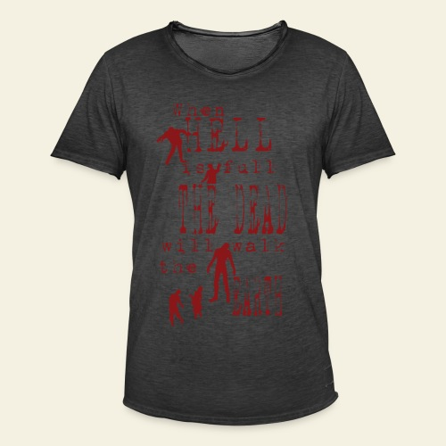 Zombie when hell is full - Herre vintage T-shirt
