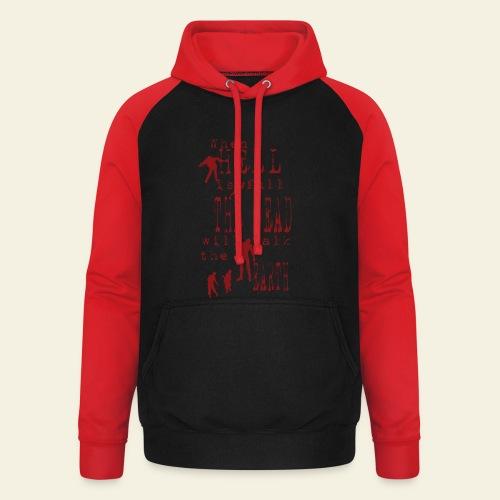 Zombie when hell is full - Unisex baseball hoodie