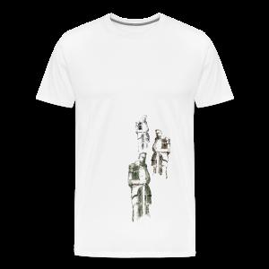 Krieger vom Völkerschlachtdenkmal - Männer Premium T-Shirt