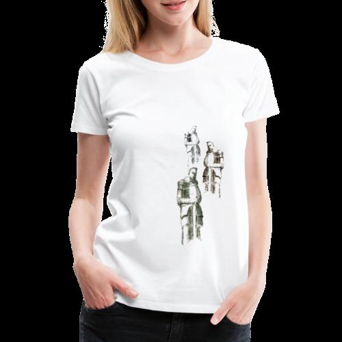 Krieger vom Völkerschlachtdenkmal - Frauen Premium T-Shirt
