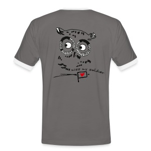 Owl - miss my soldier - Männer Kontrast-T-Shirt
