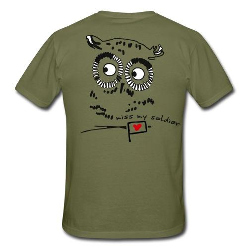 Owl - miss my soldier - Männer T-Shirt