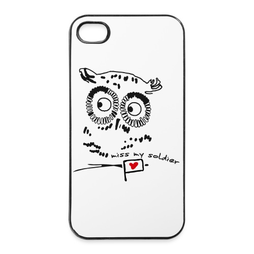 Owl - miss my soldier - iPhone 4/4s Hard Case
