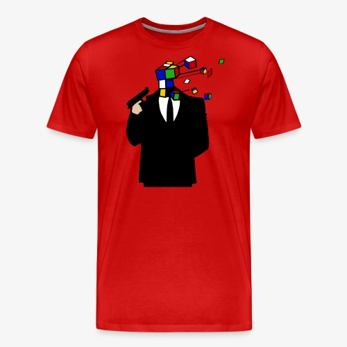 Headshot Rubiks Cube - Männer Premium T-Shirt