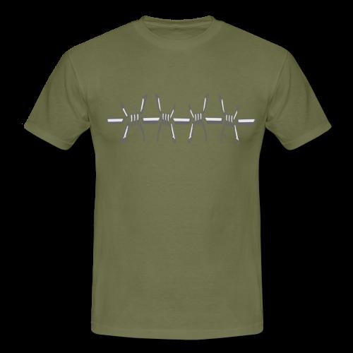 Männer T- Shirt Stacheldraht - Männer T-Shirt