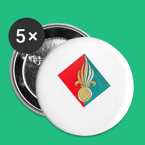 GRENADE FANION LEGION TW - Lot de 5 petits badges (25 mm)