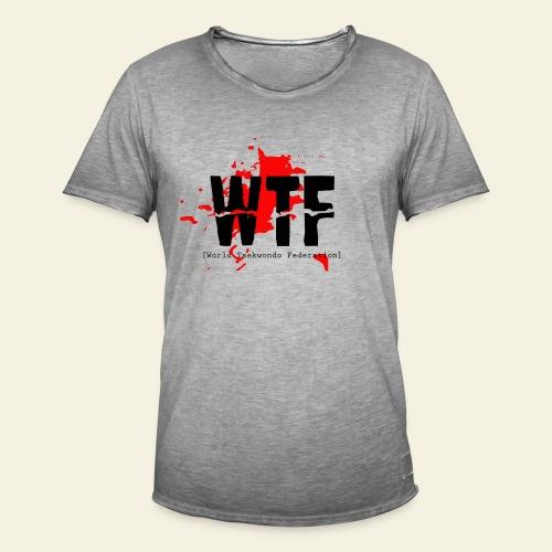 WTF World Taekwondo Federation RED  - Herre vintage T-shirt