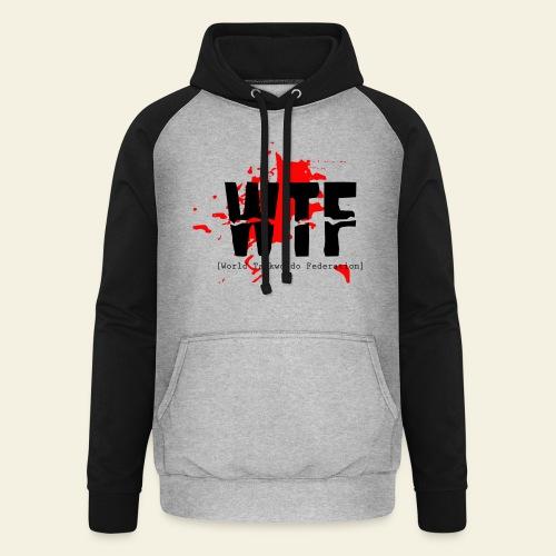 WTF World Taekwondo Federation RED  - Unisex baseball hoodie