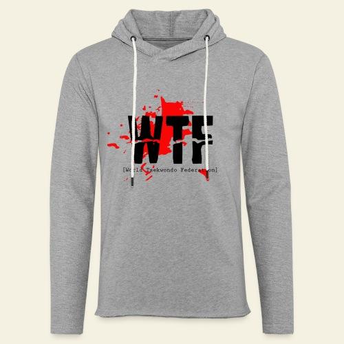 WTF World Taekwondo Federation RED  - Let sweatshirt med hætte, unisex