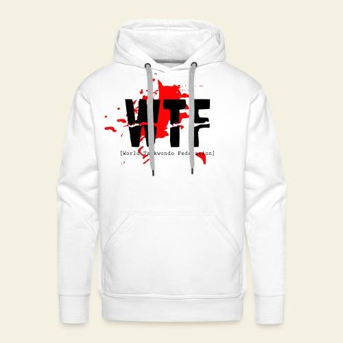 WTF World Taekwondo Federation RED  - Herre Premium hættetrøje