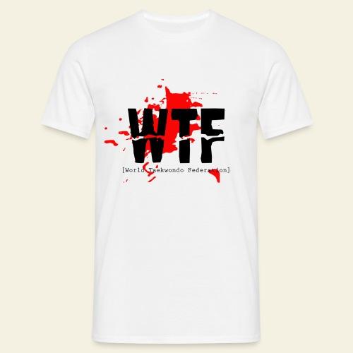 WTF World Taekwondo Federation RED  - Herre-T-shirt