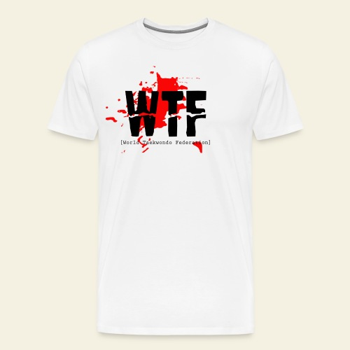 WTF World Taekwondo Federation RED  - Herre premium T-shirt