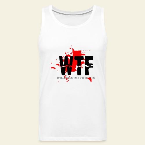 WTF World Taekwondo Federation RED  - Herre Premium tanktop