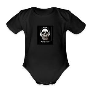 DeafboyOne - Breaking the sound barrier - Organic Short-sleeved Baby Bodysuit