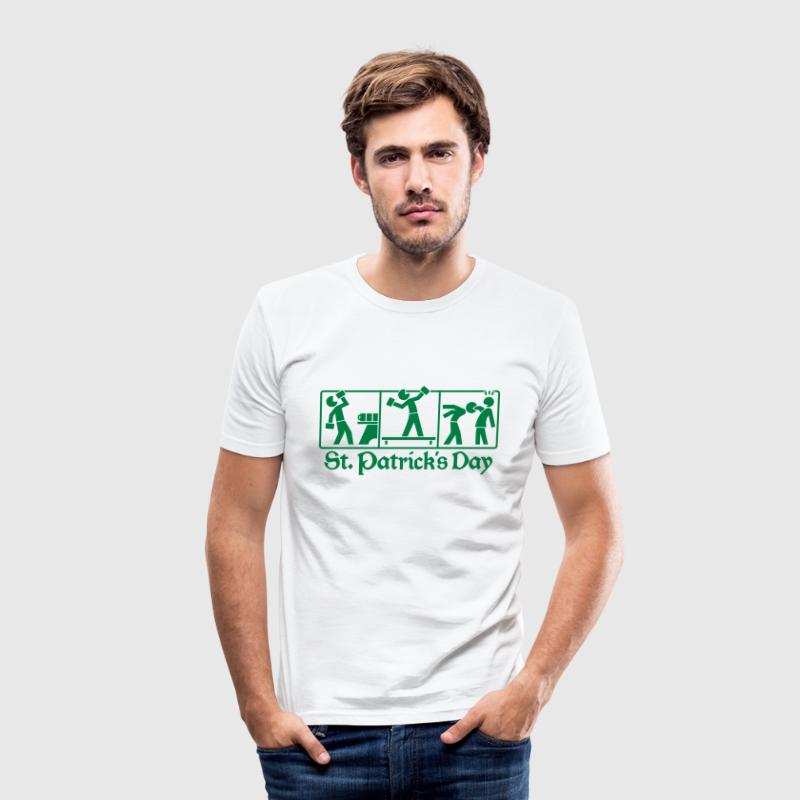 St. Patrick's Day - Traditions Piktogramm T-Shirts - Männer Slim Fit T-Shirt
