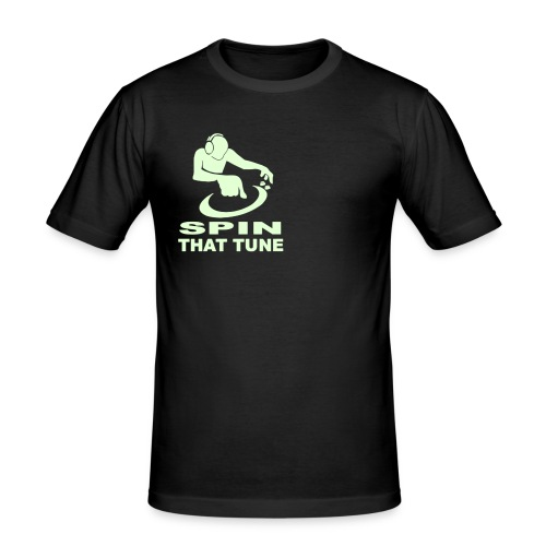DJ Spin that Tune - Men's Slim Fit T-Shirt