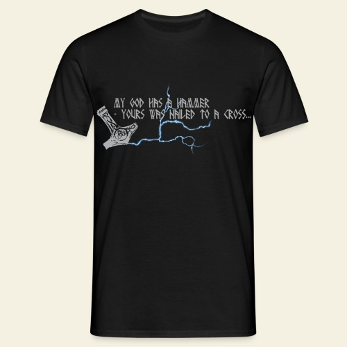 Mjølner: My god has a hammer  - Herre-T-shirt