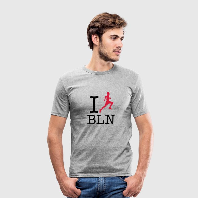 I Run Berlin T-Shirts - Männer Slim Fit T-Shirt