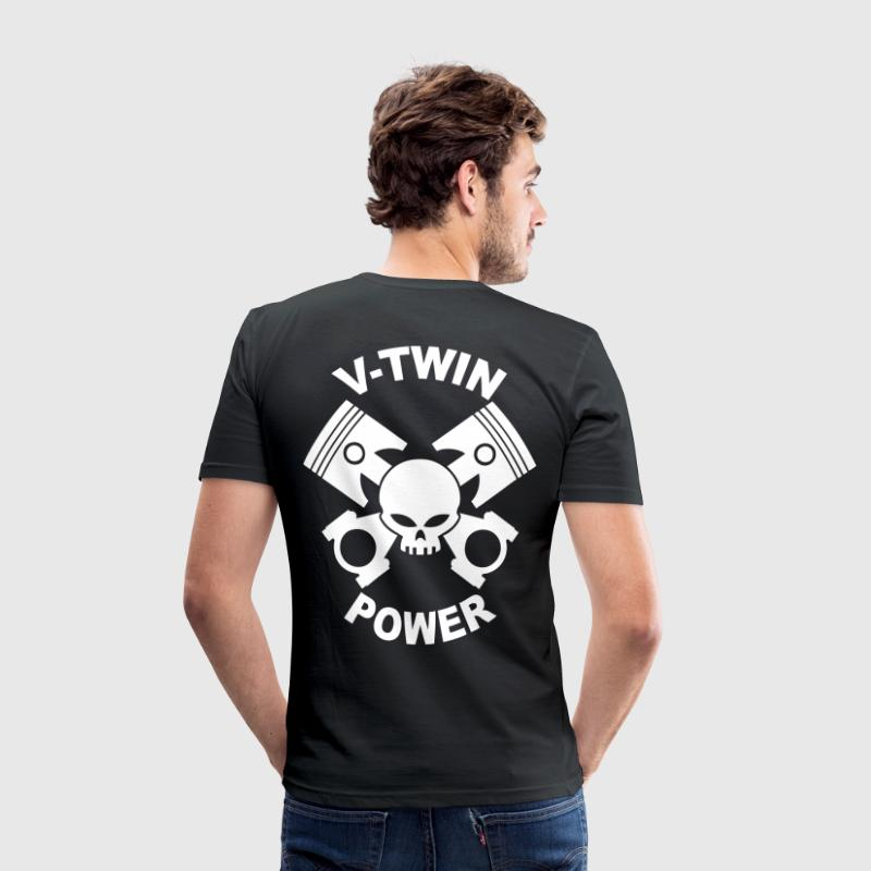 V-twin power skull T-Shirts - Men's Slim Fit T-Shirt