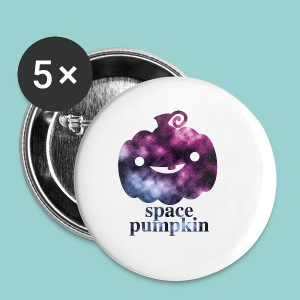 space pumpkin  - Buttons klein 25 mm