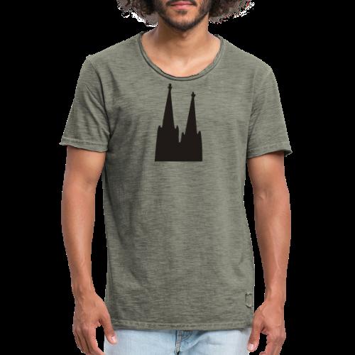 Kölner Dom (Weiß) Köln Design - Männer Vintage T-Shirt