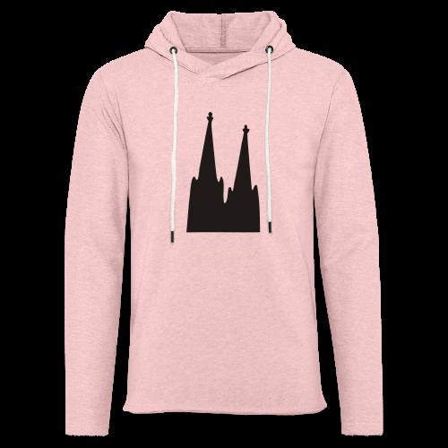 Kölner Dom (Weiß) Köln Design - Leichtes Kapuzensweatshirt Unisex