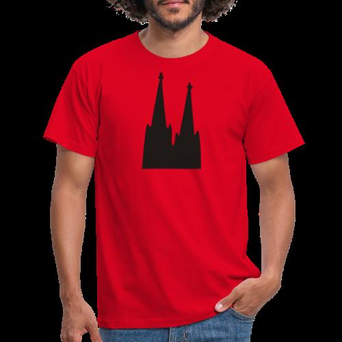 Kölner Dom (Weiß) Köln Design - Männer T-Shirt