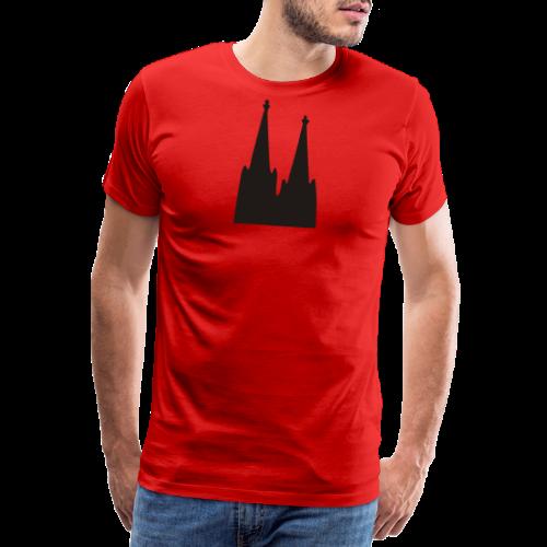 Kölner Dom (Weiß) Köln Design - Männer Premium T-Shirt