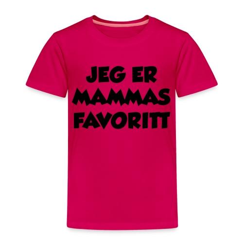 «Jeg er mammas favoritt» - Premium T-skjorte for barn