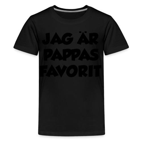 Jag är pappas favorit - Premium-T-shirt tonåring