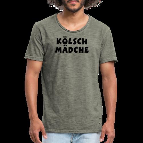 Kölsch Mädche met Ö un Ä (Weiß) S-3XL T-Shirt - Männer Vintage T-Shirt
