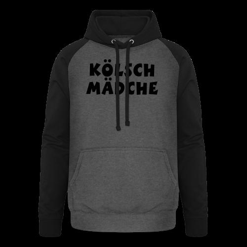 Kölsch Mädche met Ö un Ä (Weiß) S-3XL T-Shirt - Unisex Baseball Hoodie