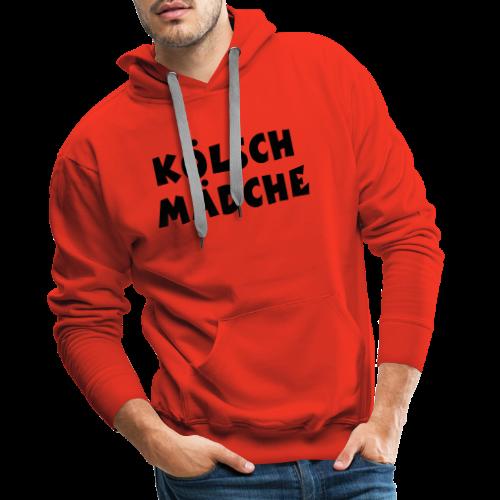 Kölsch Mädche met Ö un Ä (Weiß) S-3XL T-Shirt - Männer Premium Hoodie