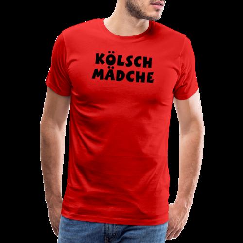 Kölsch Mädche met Ö un Ä (Weiß) S-3XL T-Shirt - Männer Premium T-Shirt