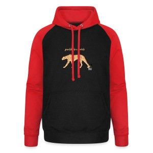 graceful like a cheetah -  FrauenPullover Frontd - Unisex Baseball Hoodie
